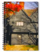 The Mysterious Witch House Of Salem Spiral Notebook