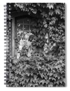 The Mystery Within - Black And White Spiral Notebook