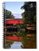 The Narrows Covered Bridge 5 Spiral Notebook