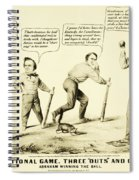 The National Game - Abraham Lincoln Plays Baseball Spiral Notebook