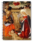 The Nativity With The Annunciation To The Shepherds In The Distance Spiral Notebook
