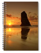 The Needles At Haystack - Cannon Beach Sunset  Spiral Notebook