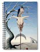 The Neolithic Totem Oil On Canvas Spiral Notebook