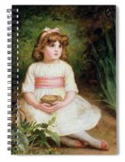 The Nest Oil On Canvas Spiral Notebook
