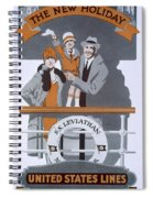 The New Holiday, Vintage Travel Poster Spiral Notebook