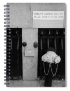 The New Normal In Black And White Spiral Notebook