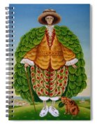 The New Vestments Ivor Cutler As Character In Edward Lear Poem, 1994 Oils And Tempera On Panel Spiral Notebook