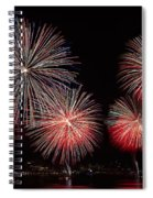The New York City Skyline All Lit Up Spiral Notebook