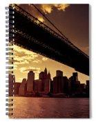 The New York City Skyline - Sunset Spiral Notebook