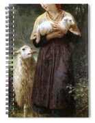 The Newborn Lamb Spiral Notebook