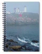 The Nubble Lighthouse At York Maine Spiral Notebook