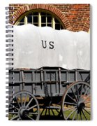 The Old Army Wagon Spiral Notebook