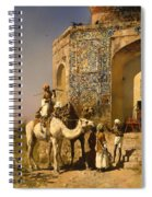 The Old Blue Tiled Mosque - India Spiral Notebook