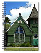 The Old Church In Hanalei Spiral Notebook