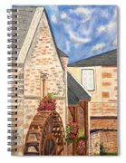 The Old French Mill Watercolor Art Prints Spiral Notebook