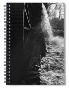 The Old Grist Mill - Black And White Spiral Notebook
