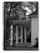 The Old Homestead In Black And White Spiral Notebook
