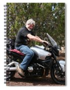 The Old Man On The Motorcycle Spiral Notebook