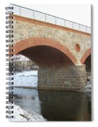 The Old Railway Bridge In Silute. Lithuania. Winter Spiral Notebook