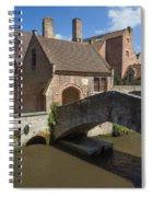 The Old Stone Bridge In Bruges Spiral Notebook