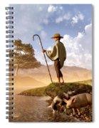 The Old Swineherd Spiral Notebook