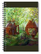 The Old Swing Between The House And The Barn Spiral Notebook