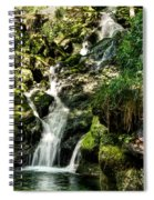 The Old Troll Caught By The Sun Admiring The Forest Waterfall Spiral Notebook