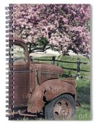 The Old Truck And The Crab Apple Spiral Notebook