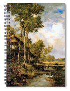 The Old Windmill Near Barbizon Spiral Notebook