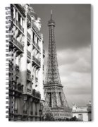 The Other View Of The Eiffel Tower Spiral Notebook