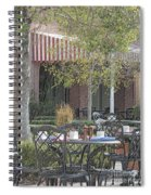 The Outdoor Cafe Spiral Notebook