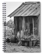 The Outhouse Bw Spiral Notebook