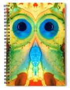 The Owl - Abstract Bird Art By Sharon Cummings Spiral Notebook