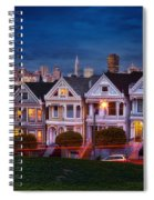 The Painted Ladies Of San Francsico Spiral Notebook