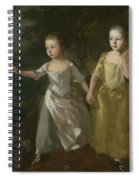 The Painter's Daughters Chasing A Butterfly Spiral Notebook