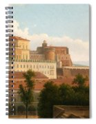 The Palazzo Reale And The Harbor. Naples Spiral Notebook