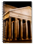 The Pantheon At Night - Painting Spiral Notebook