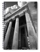 The Pantheon In Rome Bw Spiral Notebook