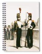 The Parisian Municipale Guard, Formed 29th July 1830 Coloured Engraving Spiral Notebook