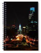 The Parkway At Night Spiral Notebook