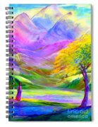 Misty Mountains, Fall Color And Aspens Spiral Notebook