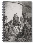 The People Mourning Over The Ruins Of Jerusalem Spiral Notebook