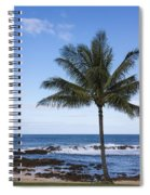 The Perfect Palm Tree - Sunset Beach Oahu Hawaii Spiral Notebook