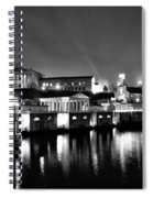 The Philadelphia Waterworks In Black And White Spiral Notebook