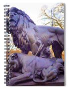 The Philadelphia Zoo Lion Statue Spiral Notebook