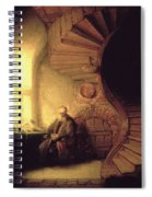 The Philosopher In Meditation Spiral Notebook