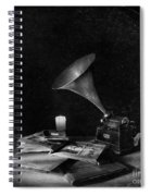The Phonograph 4 Mono Spiral Notebook