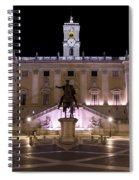 The Piazza Del Campidoglio At Night Spiral Notebook