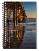 The Pier At Goleta Beach Spiral Notebook