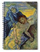 The Pieta After Delacroix 1889 Spiral Notebook